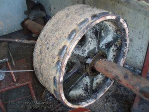 Ремонт ведучого колеса фунікулера